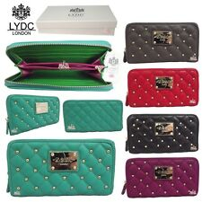LYDC Designer Ladies Quilted Studs Faux Leather Purse/Wallet/Clutch bag L(122)