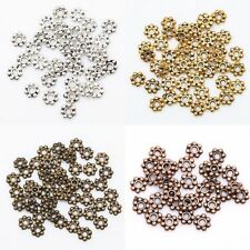 Wholesale 400 pcs Tibetan Silver/Golden/Bronze Daisy Spacer Beads Findings 4mm