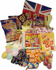 Retro Union Jack Sweet Hamper Birthday Gift Sweets Hamper Box Haribo Vimto