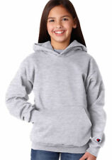 Champion Youth Soft Long Sleeve 50/50 Winter Fleece Hooded Pullover. CY4C