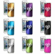 Apple iPod Touch 5th 6th Generation Hard Case Cover Heart Paw Prints