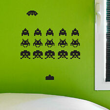 SPACE INVADERS, Retro Arcade Game, Vintage, Wall Sticker, Decal, Wallart, SS68