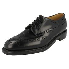 Loake 'Braemar' Mens Black Leather Classic Brogue Shoes