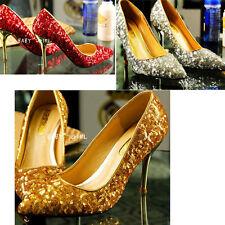 party Sparkle Bling Sequin Glitter Pumps Women lady gril wedding shoes hot sale