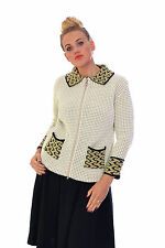 New Womens Knitted Zip Up Cardigan Top Long Sleeve Pocket Nouvelle Plus Size