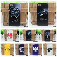 Hot Design STARK WOLF Game of Thrones Badge Hard case cover iphone 4 4S 5 5S 6