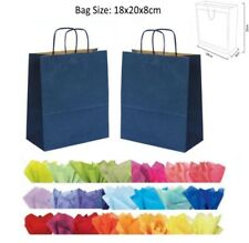 Cheap 20x18x8cm Navy Blue Paper Party Loot Bag Wedding Favour Gift Bags & Tissue