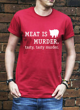 Meat Is Murder T Shirt Funny Vegetarian Food Pig Bacon Great Gift TShirt J0409