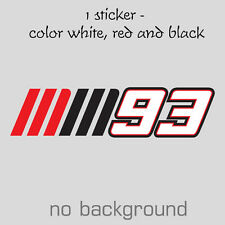 NEW MM93 MARC MARQUEZ 2013 Vynil Sticker Decal Moto GP Repsol 93 Honda Pegatina