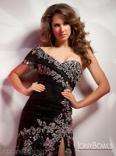 Tony Bowls Collection Dress 212C71 ~  LOWEST PRICE GUARANTEE - 8 10 * Black