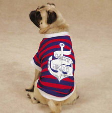 Salty Dog T-Shirt Tee Blue East Side Collect Top Pet  Nautical All Paws on Deck