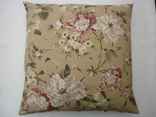 "stunning cushion cover made from Fryetts ""Tiffany"" in beige raspberry & cream"