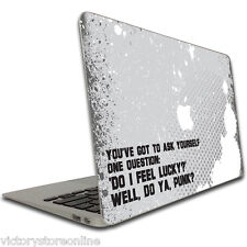 "11/13/15 in MacBook Pro/Air Skins- Movie Quote - Dirty Harry -""Do I feel Lucky?"""