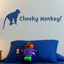 CHEEKY MONKEY, LARGE WALL STICKER, Kids, Animals, Wild, Monkey, SS310