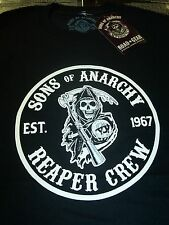 SONS OF ANARCHY EST 1967 REAPER CREW MOTORCYCLE CLUB CITIES T-SHIRT NEW !