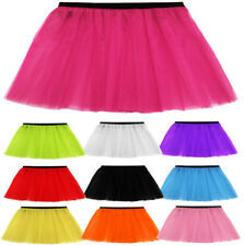 WOMENS LADIES GIRLS HEN ADULT PLUS NEON TUTU SKIRT 10 COLOURS SIZES 6-14 & 16-26