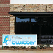 2' x 6' / 3' x 9' / 4' x 12'- Follow Us on Twitter-10oz Vinyl Banner -W/Grommets