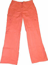 SAVOIR COTTON COMBAT CARGO TROUSERS CORAL STONE WHITE TURQUOISE UK 6-18