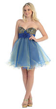 11 Colors  Sweet 16 Short  Ball Gown Dance Dress Party Prom Evening Pageant 4-16