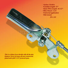 Universal Throttle Controls & Cables Available in Lever & Push Pull Styles