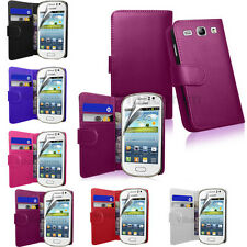 FLIP WALLET LEATHER CASE COVER FOR SAMSUNG GALAXY FAME S6810 FREE SCREEN GUARD