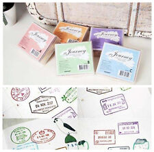 New Korean Classic Travel voyage retro Wooden Rubber Stamp 5 Models