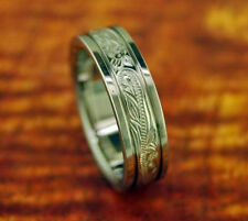 Titanium Ring/Wedding Band W/Floral Design 6MM Gift Idea Promise Ring Engagement