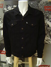 LEVI'S MEN'S UNLINED RELAXED FIT TRUCKER JACKET BLACK OVERDYE