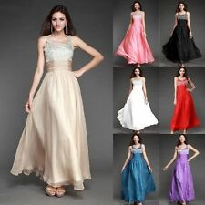 HOT Long Cocktail Party Ball Gown Evening Prom Dress Bridesmaids Formal Dresses