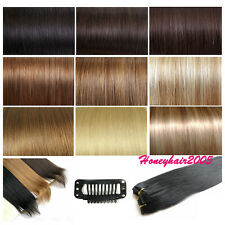"""LOT 15""""18""""20""""22""""24""""26""""30""""Any Color Remy Clip in Human Hair Extensions Wholesale"""