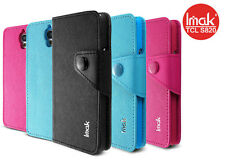IMAK New Flip PU Wallet Leather Cover Case For Alcatel One Touch Idol OT 6030D