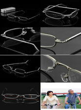 READING GLASSES GENTS MENS DESIGNER Silver Metal FULL FRAME 1.0 1.5 2.0 2.5 3.0