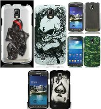 For Samsung Galaxy S4 Active Black Skulls Camo Hard Snap On Cover Case Accessory