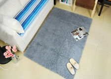 THICK HIGH PILE LUXURIOUS MICROFIBER CHENILLE SHAGGY FLOOR CARPET RUG