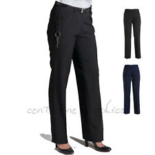 Ladies Corporate Business Mech Stretch Pants & Plus Size Work Trouser Pant New