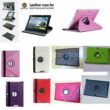 """360° Rotating Leather Case+Stylus For 10.1"""" Asus Transformer Pad TF300TG TF30OKL"""