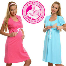 Maternity  Nursing  Pregnancy Nightdress_Nightshirt   Size UK  8 10 12 14 16