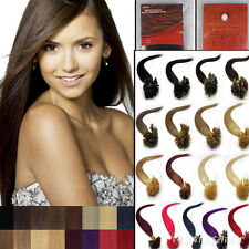 """16""""18""""20""""22"""" 100% Remy Human Hair Extensions Pre Bonded Nail Tip Choose Color"""