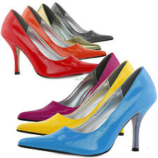 Pointy Toe Classic Work Stiletto High Heel Bridal Women Dress Pumps Dance Shoes