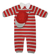 Reebok Atlanta Falcons Baby Long Sleeve Bodysuit Creeper and Hat 2 Pc Set