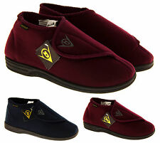 Mens DUNLOP Slippers Gents Orthopaedic Boot Slippers Velcro Slipper Shoe Boots