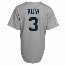 Babe Ruth New York Yankees Cooperstown Jersey - Adult Med, Lg, XL - Majestic