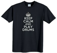 Keep Calm And Play Drums Child T-Shirt Funny Drummer Youth Tee