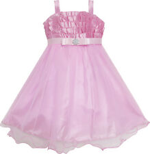 Flower Girl Dress Pink Tull Tutu Dance Pageant Kids Boutique Size 3-6 Formal