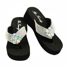 NEW Blinged Out Flower Flip Flops~ Make a Statement with your feet!