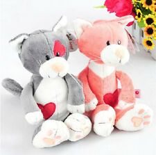 New nici plush toy stuffed doll couple cat love heart cat lover birthday gift 1p