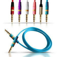 Jack To Jack Baby Blue 3.5mm Stereo Cable Plug for Various Mobile Phones