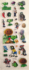 Puffy Plants vs Zombies Stickers for Card Making Scrapbooking and Crafts