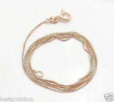Technibond Venetian Box Chain Necklace 14K Rose Pink Gold Clad Sterling Silver