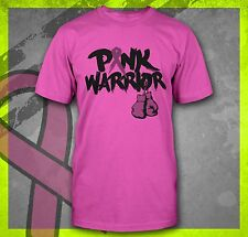 PINK WARRIOR BREAST CANCER AWARENESS FIGHT LIKE A GIRL UNISEX MENS T-SHIRT TEE